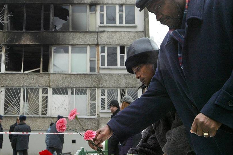 Пожар в общежитии РУДН