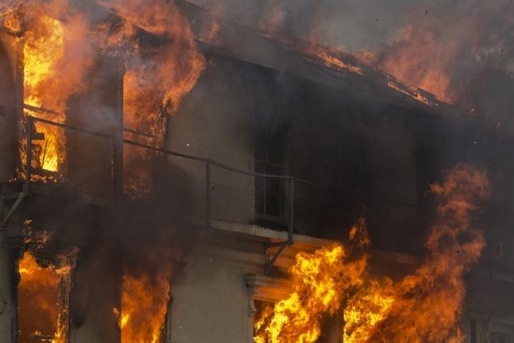 Пожар в доме престарелых в Краснодарском крае