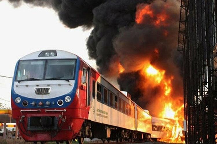 Пожар в поезде