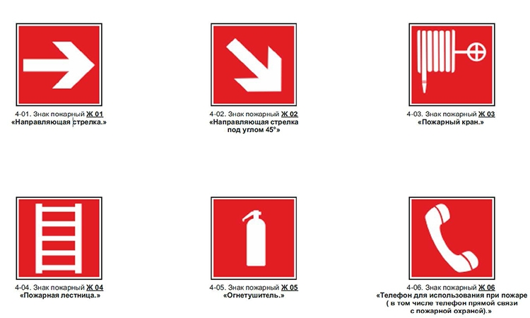 Таблички ПБ красного цвета