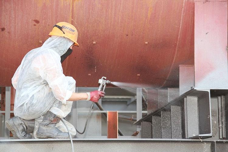 Покрытие металлических конструкций огнезащитными составами