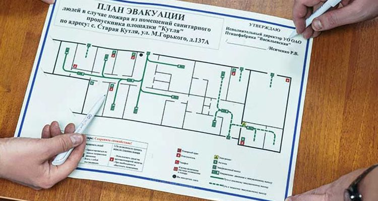 Составление плана эвакуации при пожаре