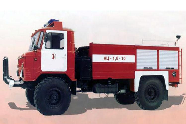 Автоцистерна типа АЦ-1,6-10 на базе ГАЗ-66