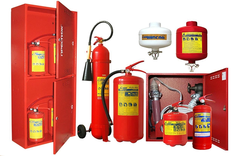 Виды первичных средств пожаротушения