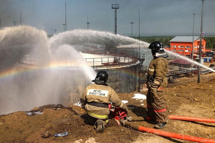 Использование противопожарных емкостей