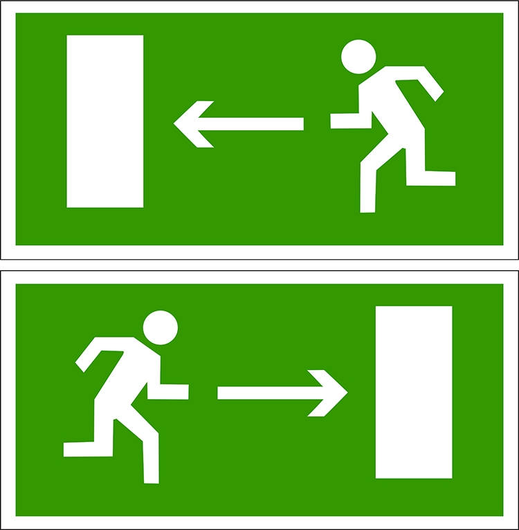 Знаки пожарного выхода