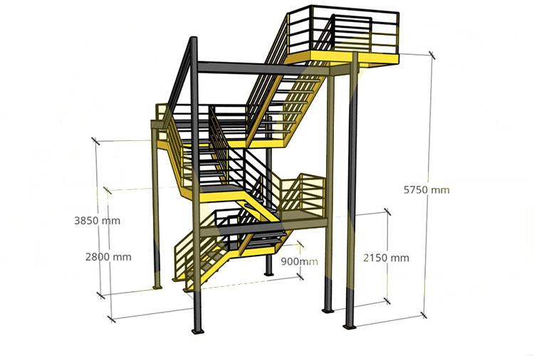 Требования к лестницам 3-го типа